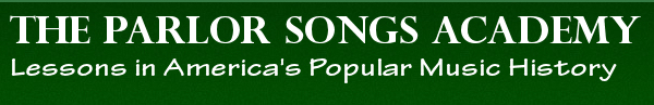 Parlor Songs in search of popular American Song