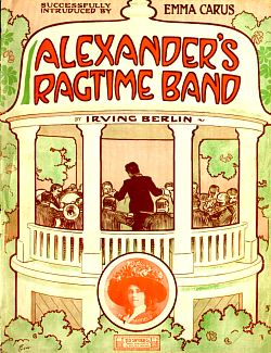 Sheet Music Cover, Alexander's Ragtime Band