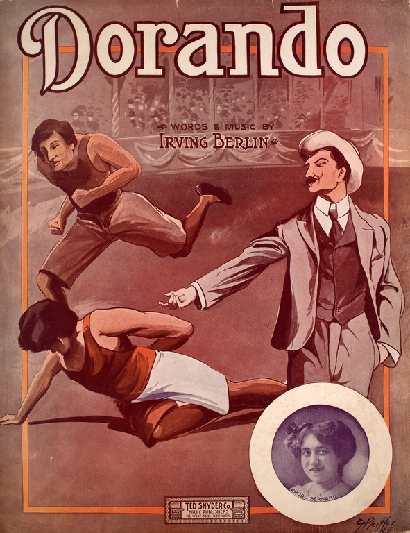 Sheet music cover, Dorando