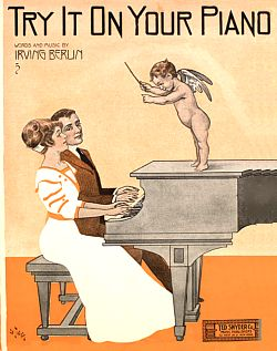 Sheet music cover, Try it on Your Piano