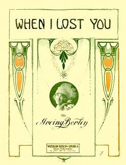 Sheet Music Cover, When I Lost You""